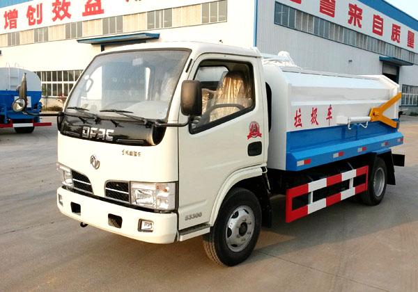 东风5方侧装挂桶式垃圾车(国五)
